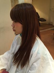 髪の赤味消したい-ヘアカラーうまい-広島美容院